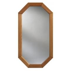 lustro w ośmiokątnej ramie drewnianej :: DUBIEL VITRUM - lustra produkcja